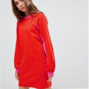 💋New ASOS TALL Mini Color Block Sweat dress